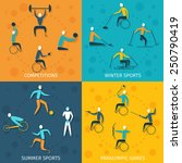 disabled sports design concept... | Shutterstock .eps vector #250790419