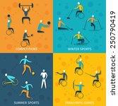disabled sports design concept... | Shutterstock .eps vector #250790419