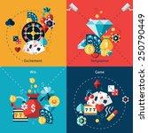 casino design concept set with... | Shutterstock .eps vector #250790449