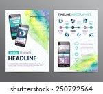 abstract  vector brochure... | Shutterstock .eps vector #250792564