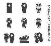 casket icon | Shutterstock .eps vector #250795501
