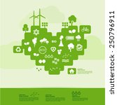 ecology green heart icon set ... | Shutterstock .eps vector #250796911
