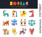 flat zodiac signs  astrology....   Shutterstock .eps vector #250798837