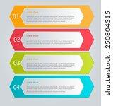 business infographics tabs... | Shutterstock .eps vector #250804315