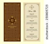 restaurant menu design | Shutterstock .eps vector #250805725