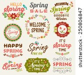 vintage spring typography... | Shutterstock .eps vector #250806847