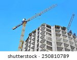 crane and building construction ... | Shutterstock . vector #250810789