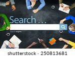 search browse find internet... | Shutterstock . vector #250813681