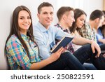 education and people concept....   Shutterstock . vector #250822591