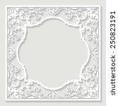 filigree frame paper cut. | Shutterstock .eps vector #250823191