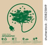 ecology concept. save world... | Shutterstock .eps vector #250825849