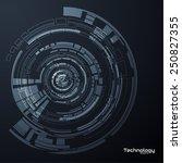 technology circular vector... | Shutterstock .eps vector #250827355