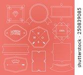contour label minimalist.... | Shutterstock .eps vector #250839085