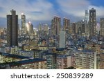 hong kong city at night | Shutterstock . vector #250839289
