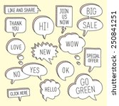 hand drawn speech bubbles  ... | Shutterstock .eps vector #250841251