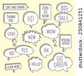 hand drawn speech bubbles  ... | Shutterstock .eps vector #250841251