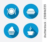 food and drink icons. muffin...   Shutterstock .eps vector #250846555