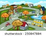 a vector illustration of city... | Shutterstock .eps vector #250847884