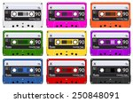 collection of nine colorful... | Shutterstock .eps vector #250848091
