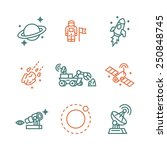 space icons. vector... | Shutterstock .eps vector #250848745