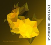 abstract background. polygonal... | Shutterstock .eps vector #250851715