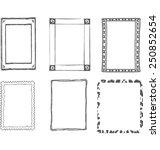set of decorative grey frames   Shutterstock .eps vector #250852654