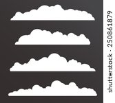 collection of various  clouds... | Shutterstock .eps vector #250861879