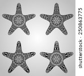 vector star collection  tattoo... | Shutterstock .eps vector #250863775