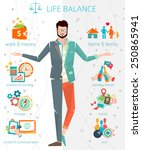 concept of work and life... | Shutterstock .eps vector #250865941