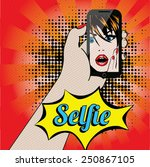 women selfie pop art vector... | Shutterstock .eps vector #250867105