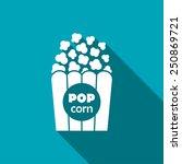 vector popcorn icon. food icon. ... | Shutterstock .eps vector #250869721