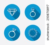 rings icons. jewelry with shine ... | Shutterstock .eps vector #250870897