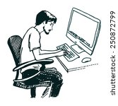 programmer and process coding... | Shutterstock .eps vector #250872799