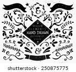 a set of vintage style design... | Shutterstock .eps vector #250875775