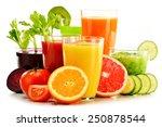 glasses with fresh organic...   Shutterstock . vector #250878544