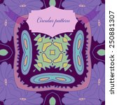 circular seamless pattern of... | Shutterstock .eps vector #250881307