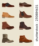 set of men boots