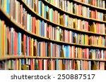 round bookshelf in public... | Shutterstock . vector #250887517