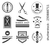 barber shop logo  labels ... | Shutterstock .eps vector #250888711