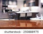 brown desk and kitchen  | Shutterstock . vector #250888975