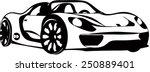 sports car vector | Shutterstock .eps vector #250889401