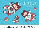 coffee cats   Shutterstock .eps vector #250891795