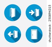 doors icons. emergency exit...