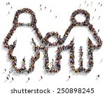 large group of people seen from ... | Shutterstock . vector #250898245