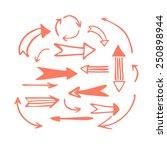 red felt tip pen sketch arrow... | Shutterstock .eps vector #250898944