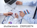 doctor and patient isolated on... | Shutterstock . vector #250910074