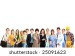 large group of smiling people.... | Shutterstock . vector #25091623