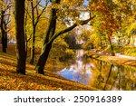 autumn scene in riga  latvia.... | Shutterstock . vector #250916389