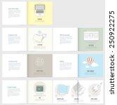 set of flyer  brochure design... | Shutterstock .eps vector #250922275