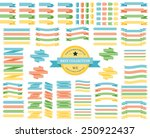 set of colored ribbons... | Shutterstock .eps vector #250922437